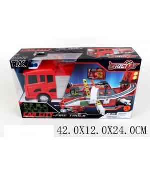 Игрушечный паркинг-трансформер в виде Пожарной 1695688_A8501