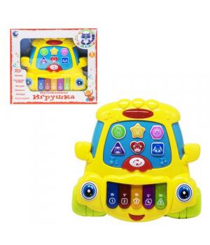 Пианино игрушка для детей, Е-нотка: машинка, (жёлтая), Tongde