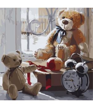 """Картина по номерам """"Игрушки детства """" ★★★★ КНО2333 30х30 см"""
