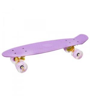 Пенни-борд фиолетовый со светящимися колесами СL22LED