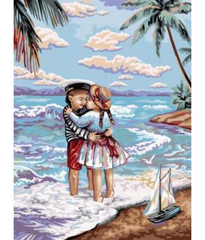 """Картина по номерам """"Дети и море"""" KpN-03-01 40х30 см"""