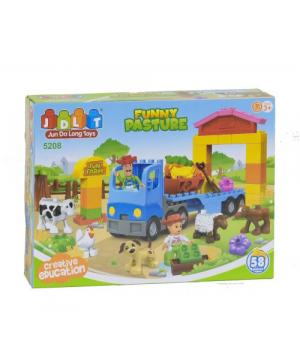 Конструктор ферма с животными 58 деталей 5208