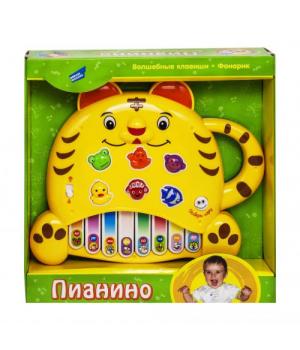 Электронная развивающая игрушка Пианино.Тигренок желтый 8806-6