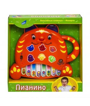 Электронная развивающая игрушка Пианино.Тигренок оранжевый 8806-6