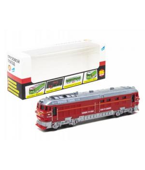 Игрушка поезд грузовой, красный G1717