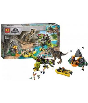 """Детский конструктор """"Jurassic World: Бой тираннозавра и робота-динозавра"""", 740 деталей 11337"""