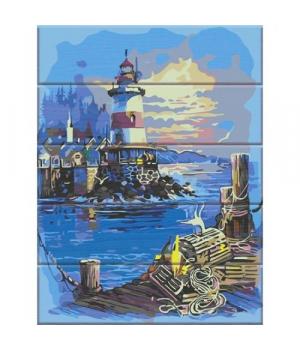 """Картина по номерам на дереве """"Свет маяка"""" ASW106 40х30 см"""