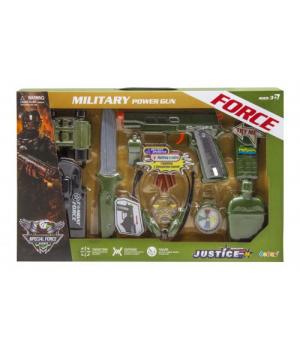 Детский военный набор для мальчика, с пистолетом, Military Power Gun