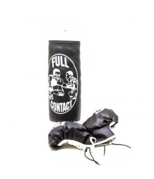 Детская боксерская груша с перчатками, черный, от 3 лет