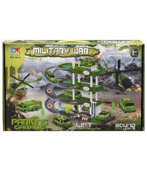 Детская игрушка парковка Military , 5 машинок, 3A-4