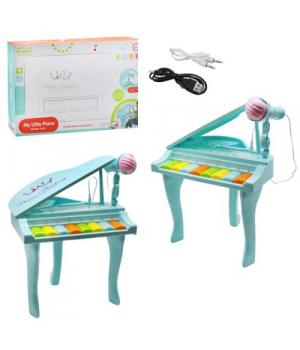 Игрушечное пианино на ножках, бирюзовый HY675-E