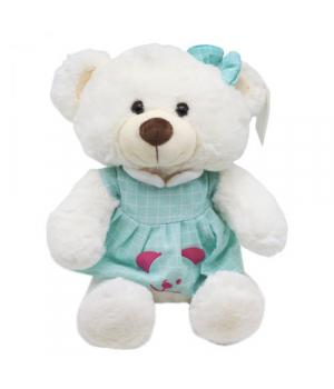 """Мягкая игрушка """"Мишка"""", в голубом платье B1014"""