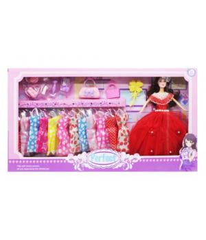 """Кукла с набором одежды """"Perfect"""", в красном"""