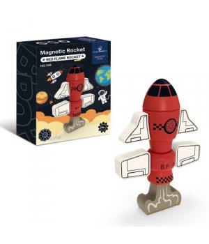 Конструктор магнитный Ракета, 8 деталей, 348