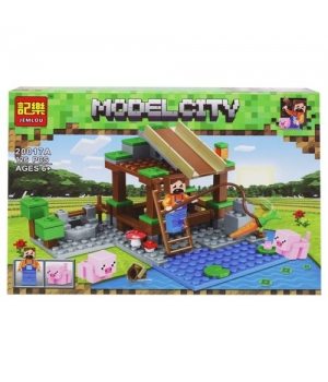 """Конструктор """"Minecraft: Озеро"""", 126 деталей 20017A-F"""