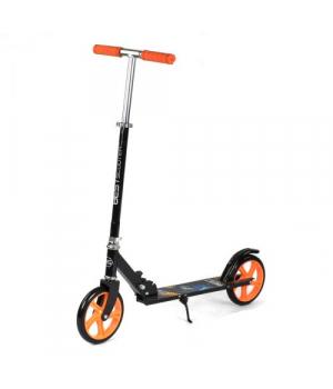 Самокат черно-оранжевый двухколесный, складной, с большими колесами, Best Scooter