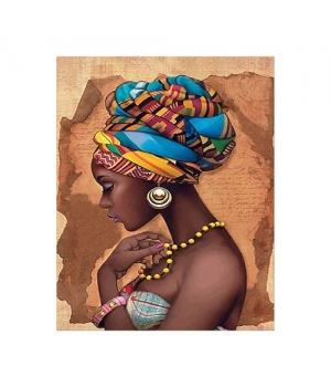 "Алмазная мозаика ""Девушка из Африки"" FA20190 40х50 см"