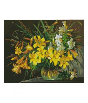 """Алмазная мозаика """"Букет жёлтых лилий"""" FA40061 40х50 см"""