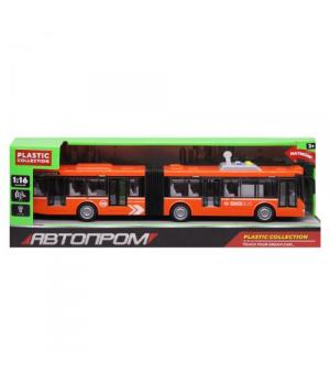 Автобус с гармошкой игрушка, 44 см, свет, звук, Автопром