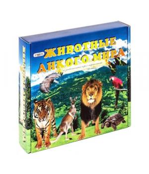 """Детская настольная игра с карточками """"Животные дикого мира"""" 686"""