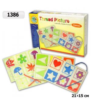 Шнуровка деревянная игрушка с картинками, Toy Land