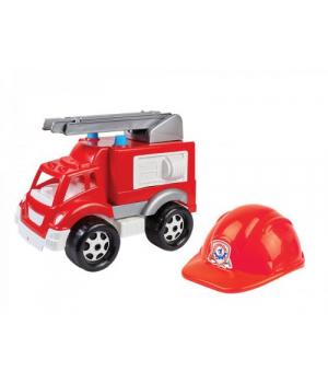 """Пожарная машина игрушка """"Малыш-Пожарник ТехноК"""" с каской 3978"""