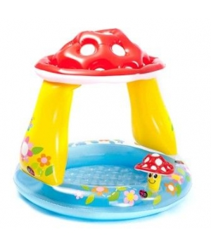 """Детский надувной бассейн с крышей """"Гриб"""", Intex"""