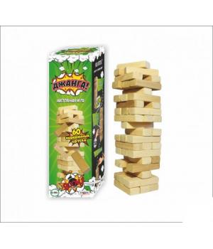 Игра Дженга, Падающая башня, 60 брусков
