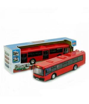Автобус игрушка с открывающимися дверями, красный