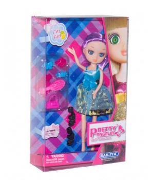 """Игрушка кукла """"Pretty Angelia (babyface)"""" с аксессуарами (в голубом платье) 83047"""