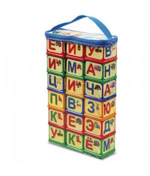 """Детские кубики с буквами """"Азбука Русские буквы"""", 18 шт, Юника"""