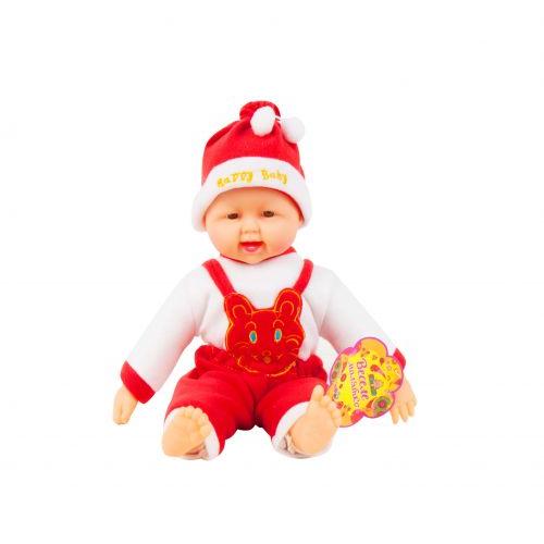 Детский Пупс хохотун (в красном), 40 см X1608