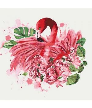 """Картина по номерам """"Грациозный фламинго"""" КНО4042"""