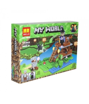 "Игрушка конструктор ""My World Minecraft - Майнкрафт - Майнкрафт: Башня Ведьмы"", 133 детали 10954"