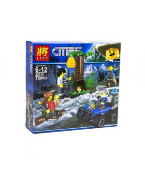 """Конструктор полицейский квадроцикл """"Cities: В горах"""", 112 деталей 28015"""