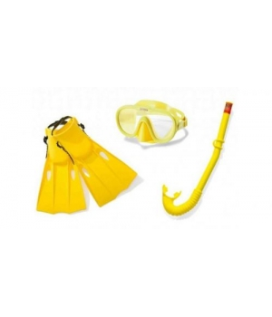 Набор для плавания детский (ласты, маска и трубка), размер M 55655, Intex
