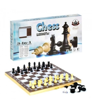 "Набор 3 в 1 ""Шахматы, Шашки, Нарды"", средний F22016"
