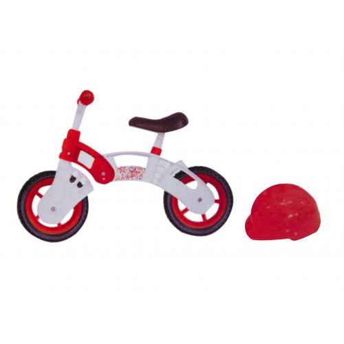 """Беговел со шлемом, 10"""" (бело-красный), для детей 3-5 лет"""