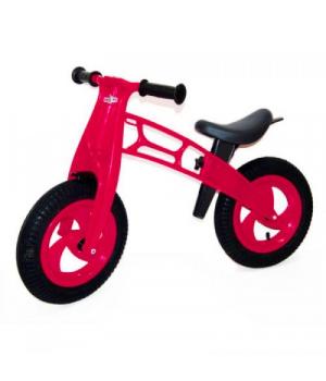 """Беговел с надувными колесами, 12"""" (малиновый) для девочки 3-5 лет"""