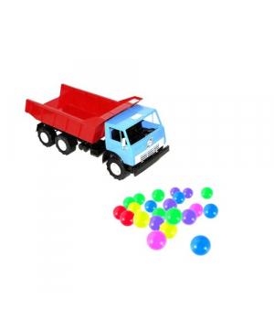 """Машинка """"Самосвал"""" с шариками (синяя) 443 в.2"""