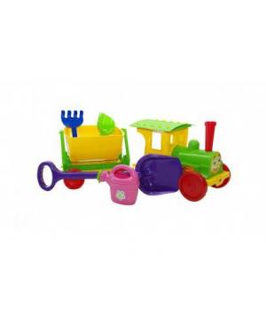 Игрушка для песка Поезд-конструктор, (салатовый) 013222/2