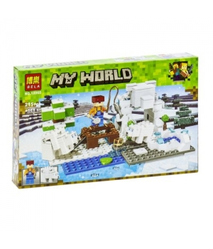 "Игрушка конструктор ""My World Minecraft - Майнкрафт - Майнкрафт: зимняя рыбалка"", 215 дет 10960"