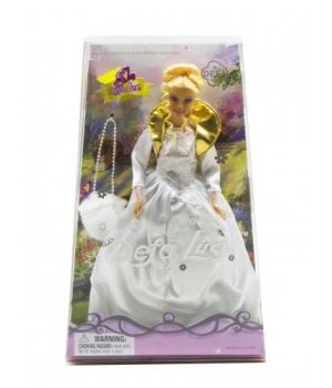 """Детская Кукла """"Defa Lucy"""" с сумкой (в белом платье) 20997"""