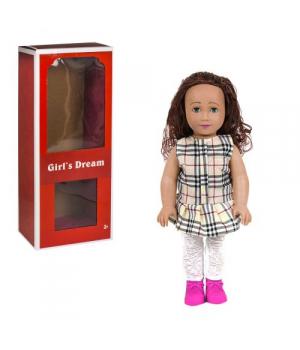 """Большая Детская кукла """"Girl's Dream"""", 45 см (в бежевую клеточку) 8920 С"""