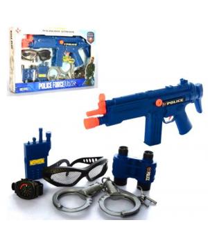 """Детский полицейский набор с автоматом, наручниками,биноклем и др. """"Police Force"""""""
