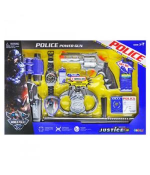Детский набор полицейского с пистолетом и наручниками, Power Gun