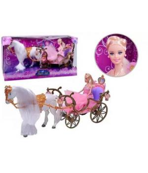 Карета с куклой и лошадкой 209A