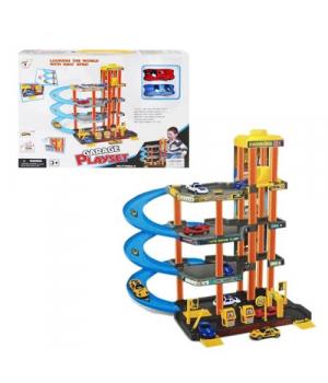 Мега парковка 4 этажа игрушечный паркинг с лифтом для машин