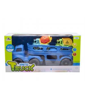 Автовоз с инерционными машинками (голубой) 933-144