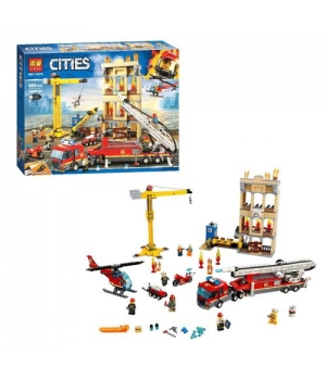 """Конструктор """"CITIES: центральная пожарная станция"""" (985 дет.) 11216"""